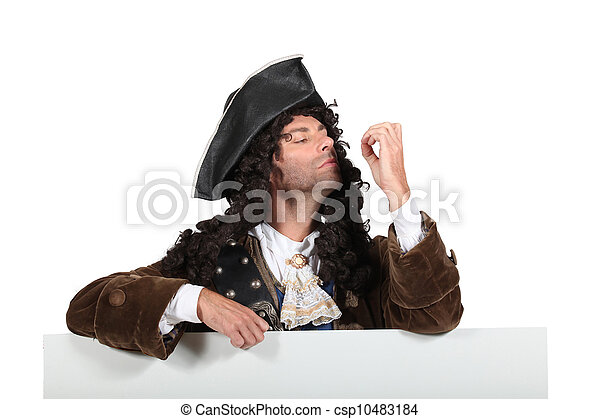 Man dressed as a pirate - csp10483184