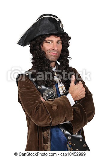 man dressed as a pirate - csp10452999
