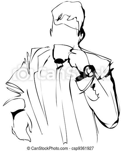 man drinking coffee - csp9361927