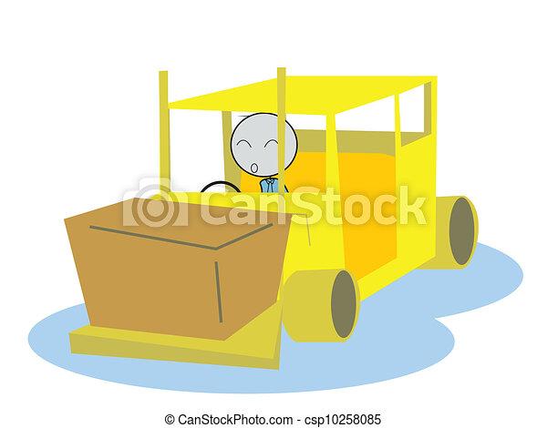 man drive a Forklift - csp10258085