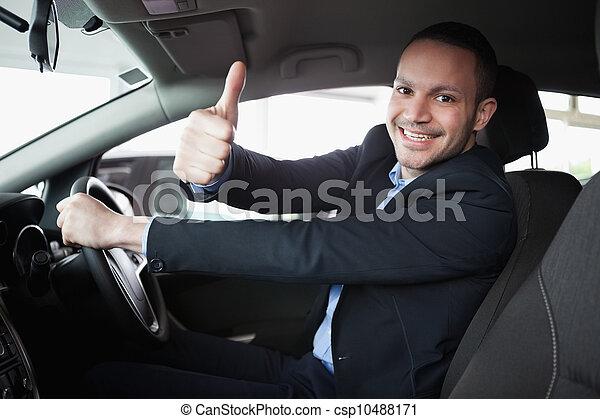 Man driving a car - csp10488171
