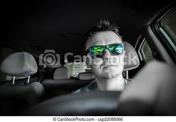 Man driving a car - csp22086066