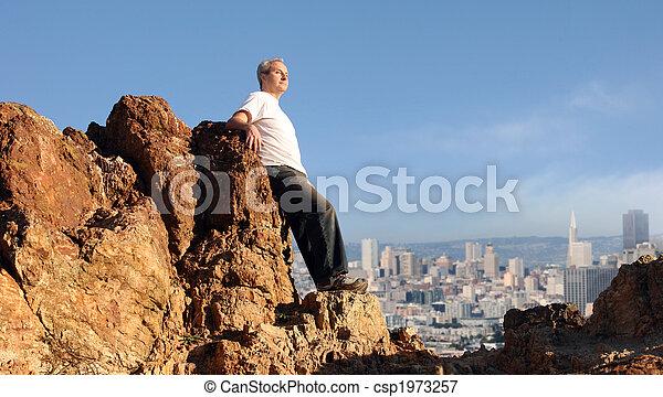Man enjoying the view - csp1973257