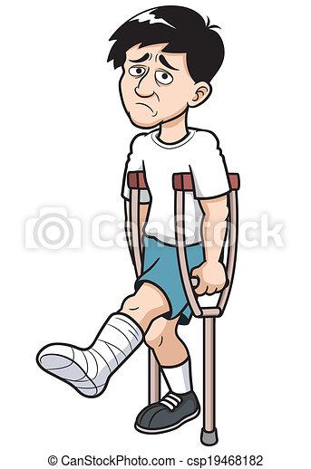 vector illustration of man with a broken leg vector search clip rh canstockphoto com broken ankle clipart broken leg cartoon clipart