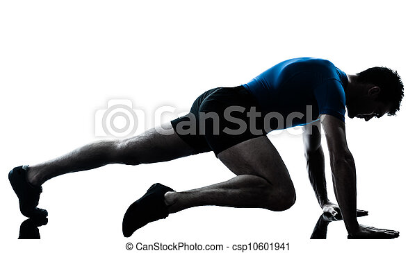 man exercising workout fitness posture - csp10601941