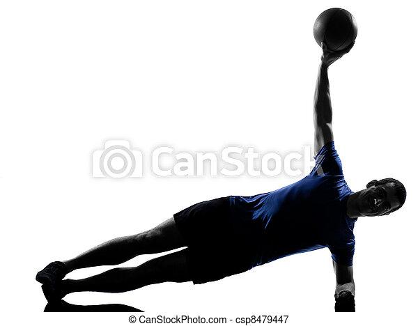 man exercising workout  - csp8479447