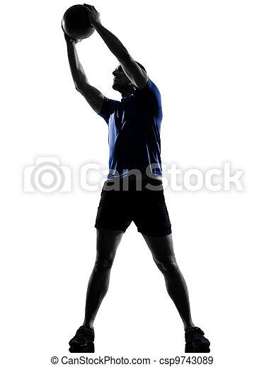 man exercising workout  - csp9743089