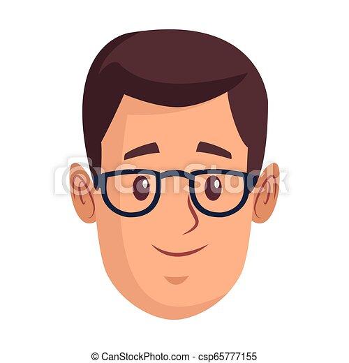 man face cartoon - csp65777155