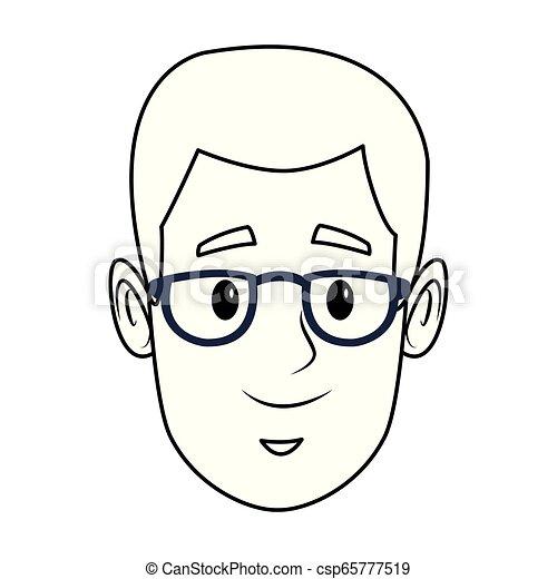 man face cartoon - csp65777519