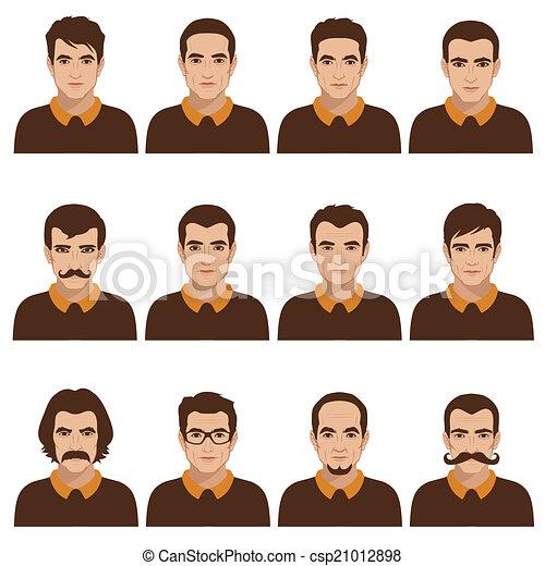 man face, head  - csp21012898