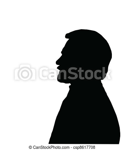 man face silhouette vector