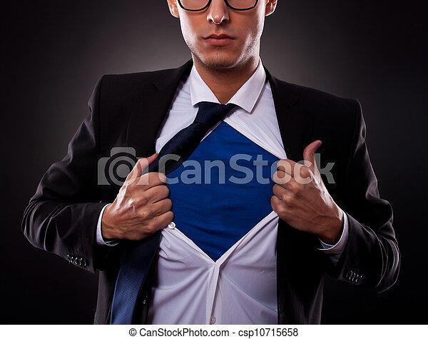 man, fantastisch, bebouwd, zakelijk, aanzicht - csp10715658