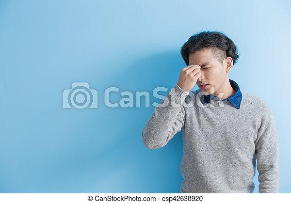 man feel headache - csp42638920