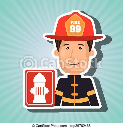 man fire hydrant icon - csp39762468
