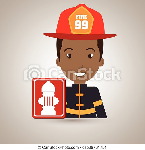 man fire hydrant icon - csp39761751