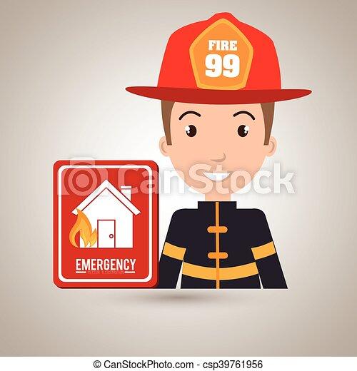 man fire hydrant icon - csp39761956