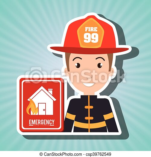 man fire hydrant icon - csp39762549