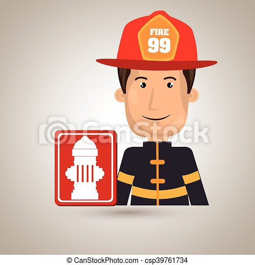 man fire hydrant icon - csp39761734