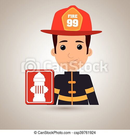 man fire hydrant icon - csp39761924