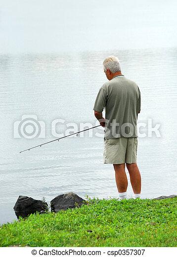 Man fishing - csp0357307