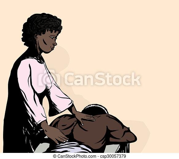 Mature Wife Getting Massage