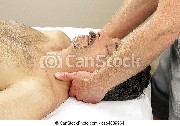 Man Getting Neck Massage - csp4839964