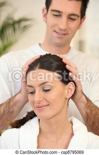 Wife giving husband head