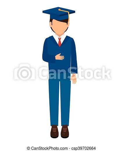 man graduation hat - csp39702664