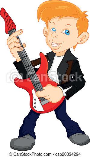 man guitar player - csp20334294