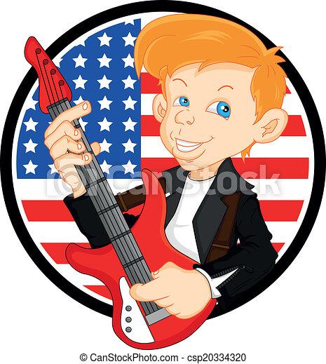 man guitar player - csp20334320