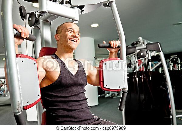 Man gym fitness - csp6973909