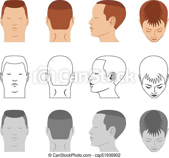 Man Hairstyle Head Set