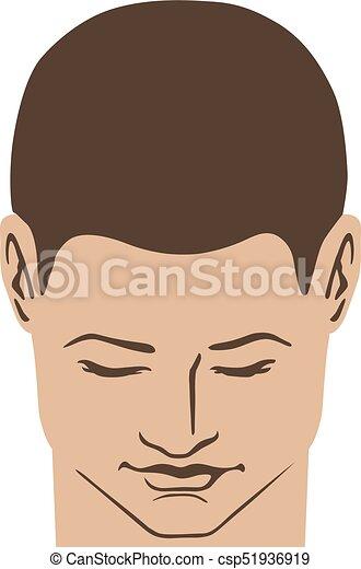 Man hairstyle head - csp51936919