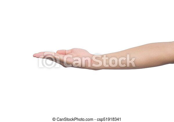 Man hand isolated on white background - csp51918341