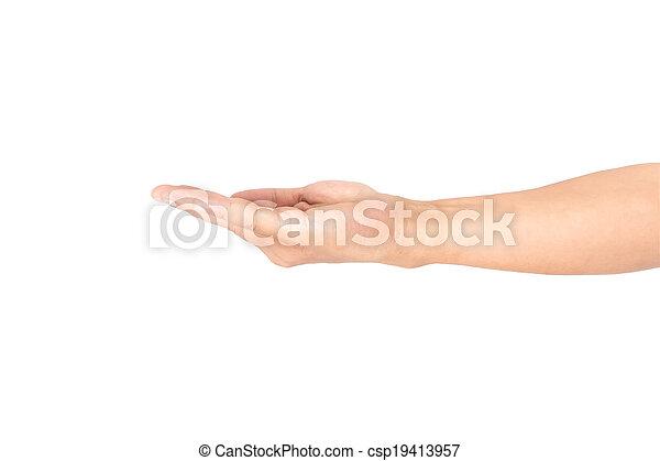 man hand isolated  - csp19413957