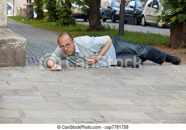 man has heart attack or stroke - csp7781758