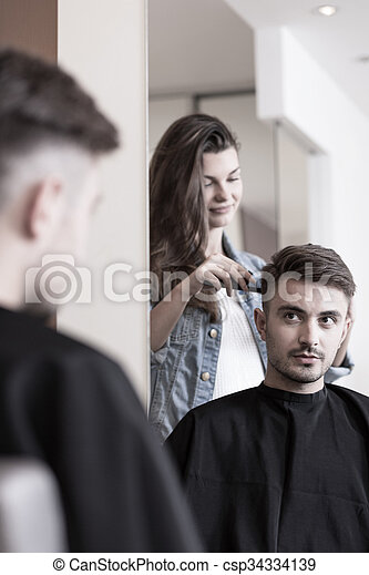 Man having a haircut - csp34334139