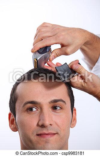 Man having an haircut - csp9983181