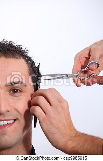 Man having an haircut - csp9985915