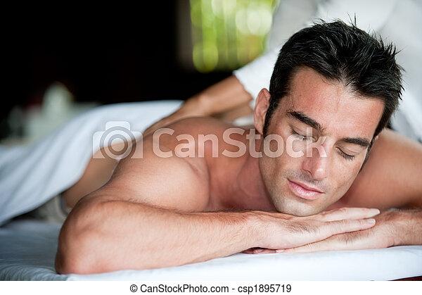 Man Having Massage - csp1895719