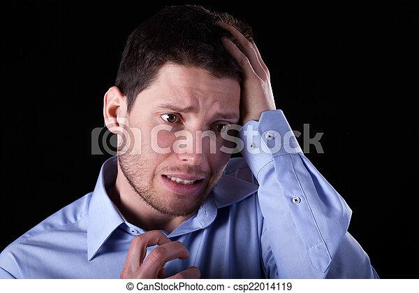 Man having sick headache - csp22014119