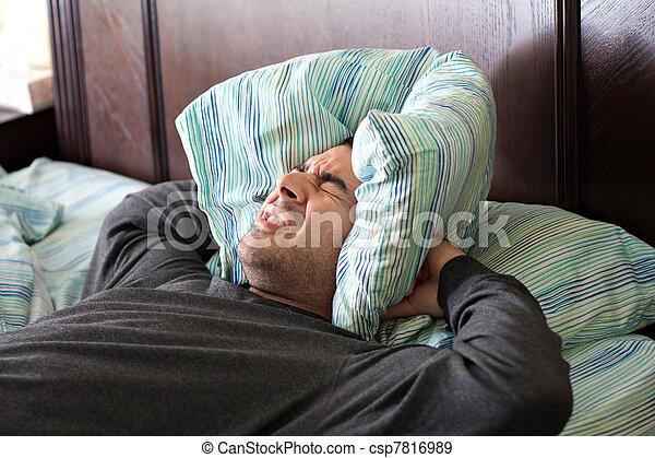 Man Having Trouble Sleeping - csp7816989