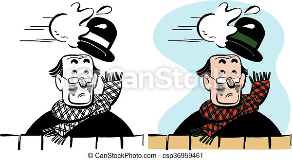 man hit by snowball a man has his hat knocked off by a clip art rh canstockphoto ie clipart snowball clip art snowball images