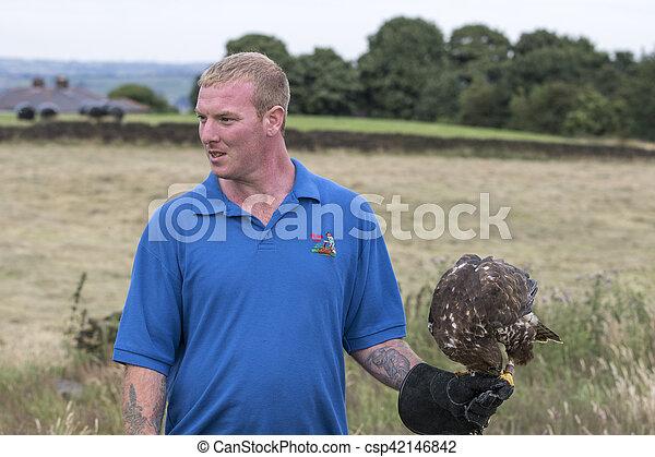 Man holding a Buzzard - csp42146842