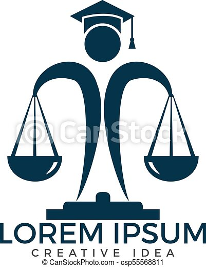 man holding scales of justice logo law and attorney logo vector rh canstockphoto com modern scales of justice logos modern scales of justice logos
