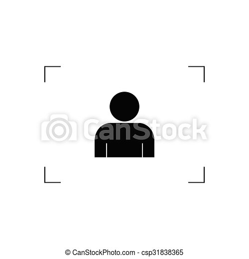 man icon vector silhouette - csp31838365
