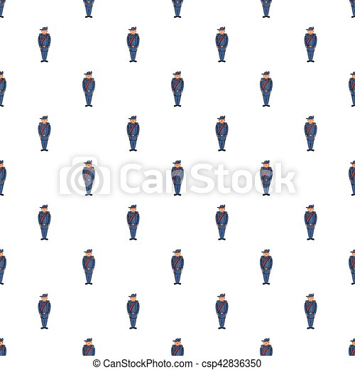 Man in a blue army uniform 19th century pattern - csp42836350