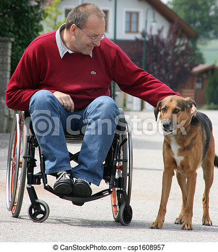 Man in a wheelchair - csp1608957