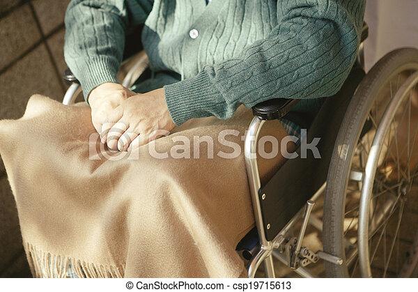 man in a wheelchair - csp19715613