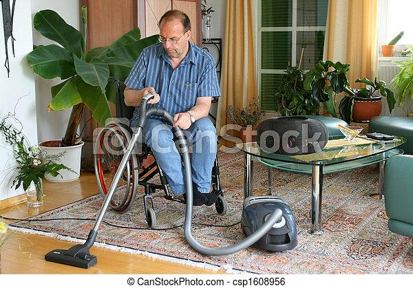 Man in a wheelchair - csp1608956